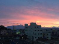 素晴らしい朝焼け(≧∇≦)