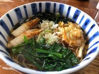 お昼は豪華かけ蕎麦ヽ(^◇^*)/ ワーイ