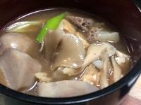 今年初の芋煮汁は〜〜(ˊo̶̶̷ᴗo̶̶̷`)੭✧