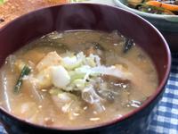 納豆汁作りました〜^_−☆