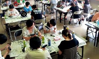 ガラスアート体験教室 親子行事・卒業記念品製作 鶴岡庄内出張