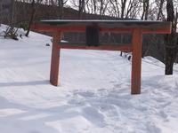 定点観測、「一の滝神社」鳥居
