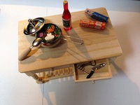 台所のテーブル【ドールハウス】