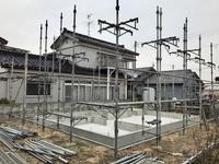 酒田市新築工事  高見台K様邸  足場組み