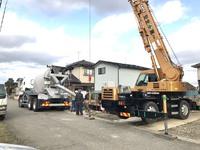 住宅基礎工事のコンクリート打設②