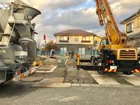 住宅基礎工事のコンクリート打設①