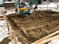 新築工事  K様邸着工しました。 2019/02/14 06:04:00