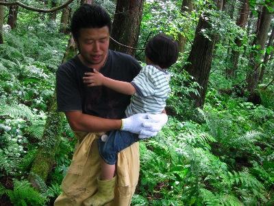 子供達にはちょっと厳しい山形の森