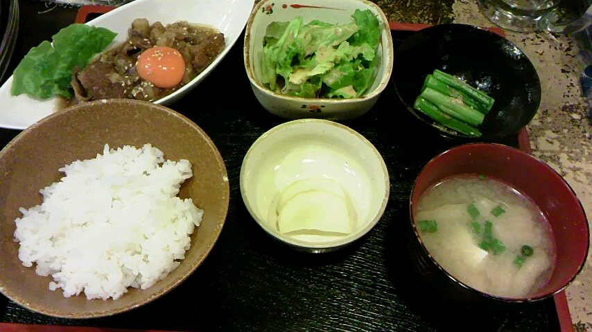 定食〜(^^)