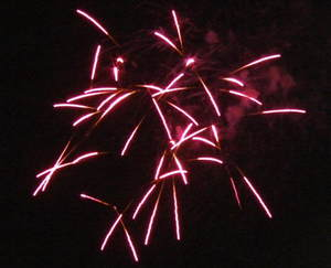 庄内町の花火。