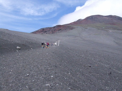 富士登山、大砂走り