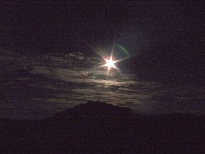 富士山頂上のお月さん