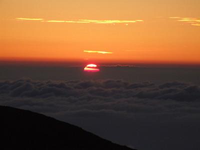 富士山、「御来光」