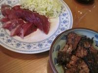 夕食はカツオ料理