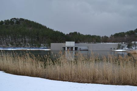 白鳥池から土門拳記念館