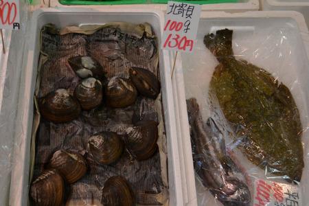 海鮮市場北寄貝