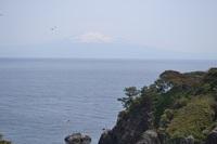 飛島から望む鳥海山