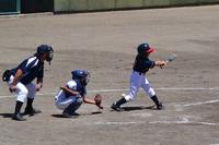 スポ少野球は夏空に熱戦