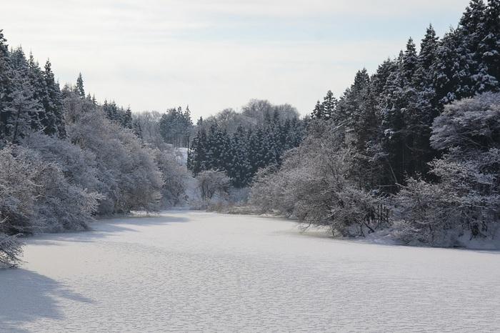 雪景色を三枚