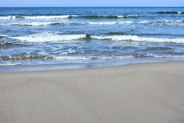 吹浦西浜海岸は春