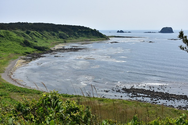 飛島東海岸と西海岸