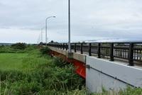 酒田市北部日向川の大正橋