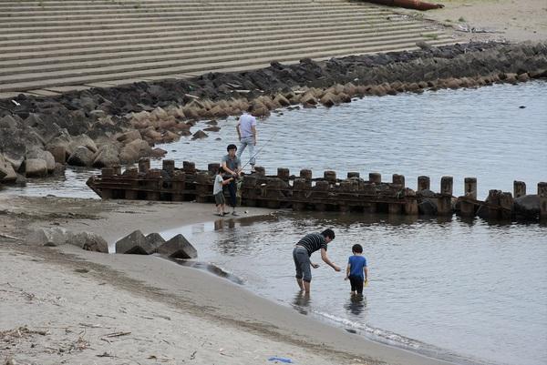大浜海岸の波は穏やか