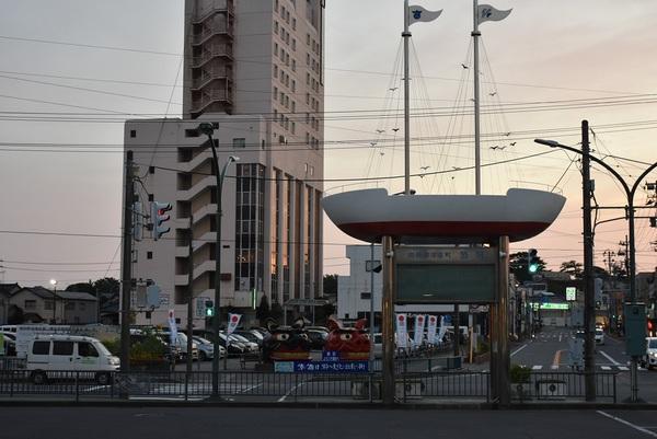 JR酒田駅前の景色
