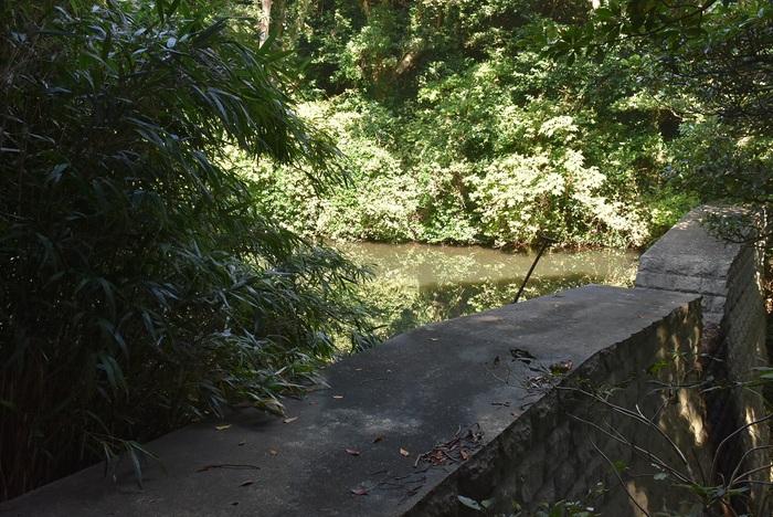 酒田市飛島の貯水池