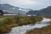 冷え込む八幡地区荒瀬川周辺