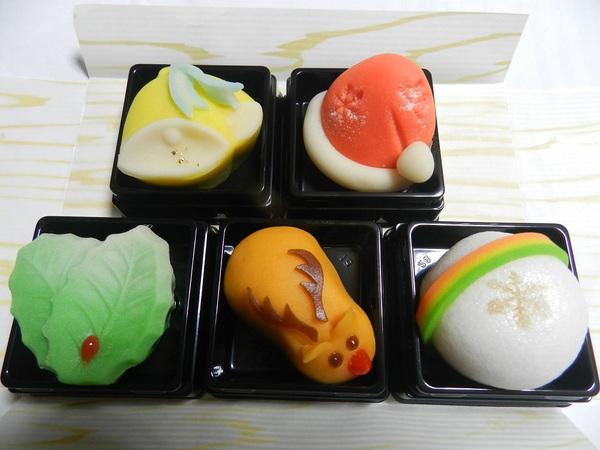 和菓子でクリスマス