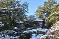 本間美術館(鶴舞園)の雪景色