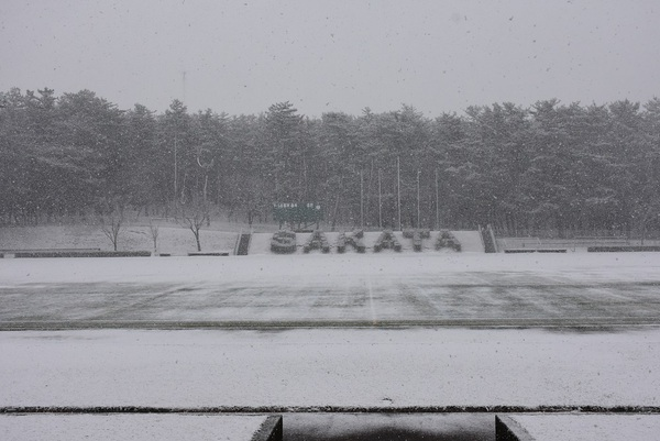 万里の松原の雪降り前後