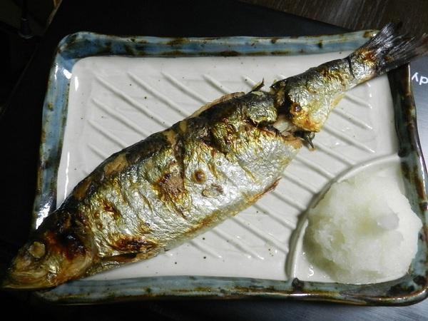 海鮮市場のニシン焼き