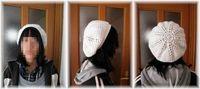 白いベレー帽♪