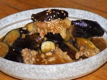 茄子のピリ辛炒り煮