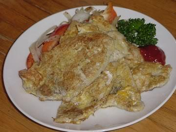 ピカタ(豚ロースの卵付け焼き)