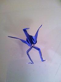 足のある折り鶴♪
