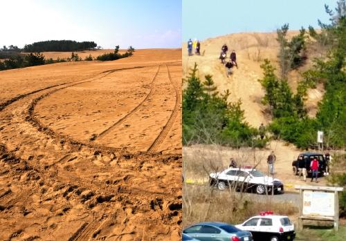砂丘の暴走