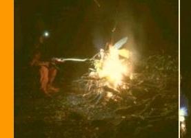 県条例違反 愛好者に因る密漁と焚き火