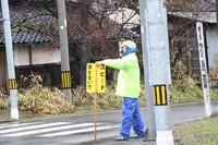 春の交通安全街頭指導実施中