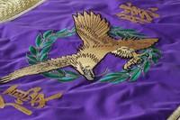 紫色の優勝旗