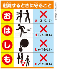 避難訓練 Earthquake Drill