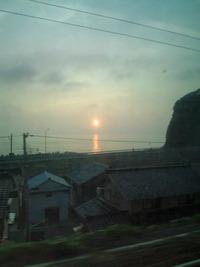 7月29日 日本海の夕日