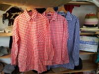 EUROvintege BOX型ギンガムチェックシャツ