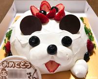 R お誕生日の今日、桜咲く! 『不二家/わんちゃんショート』でお祝いの巻♪