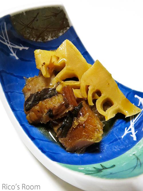 R 春のおすそわけ山菜づくしの夕べ『筍とカスベの煮物』