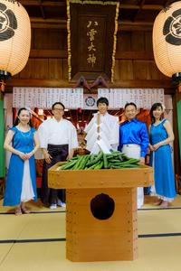 R『キウリ天王祭2017/八雲神社』に、池田勝則さんとルリアールで出演をさせていただきました♪