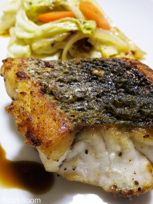 R 電話セールスお断り!日本海のワタリガニとスズキの夕食