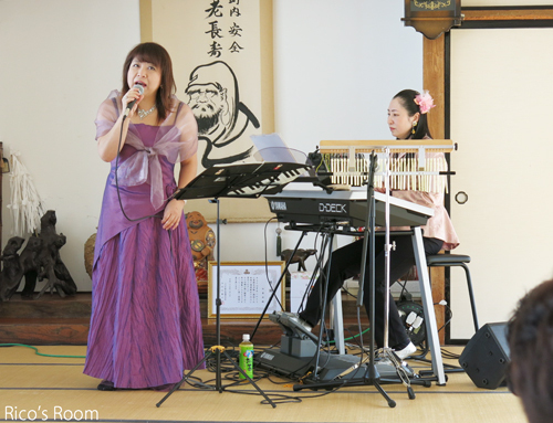 R『白寿会 新年会』三本木公民館(三川町)/YOSHIKO&RICO新春初ライブ♪